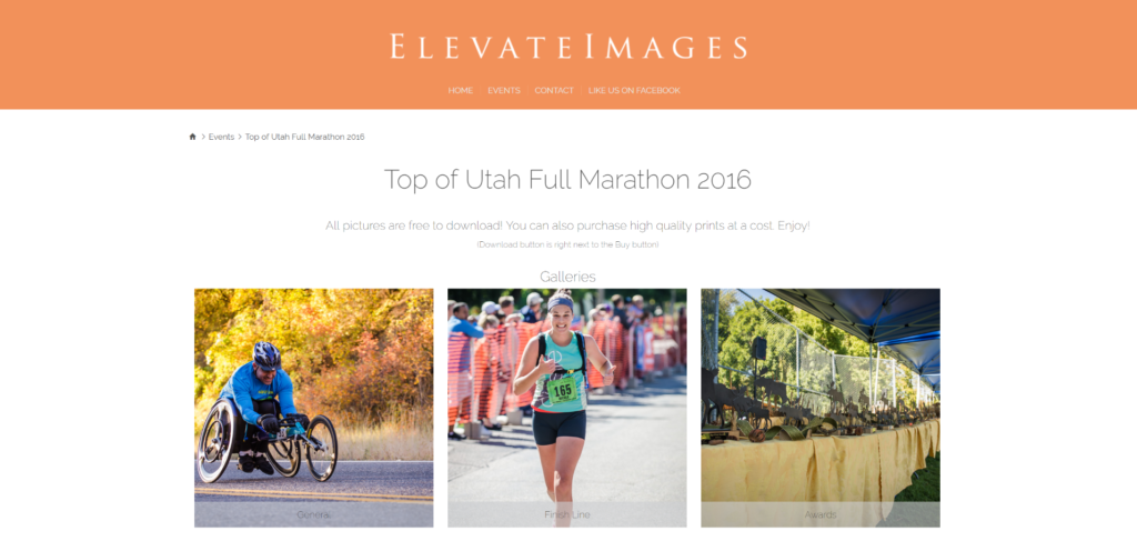 elevate images for the top of utah marathon
