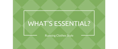 what's essential in running clothes banner header
