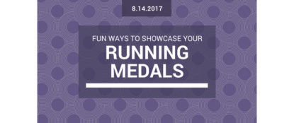 fun ways to showcase your running medals blog header
