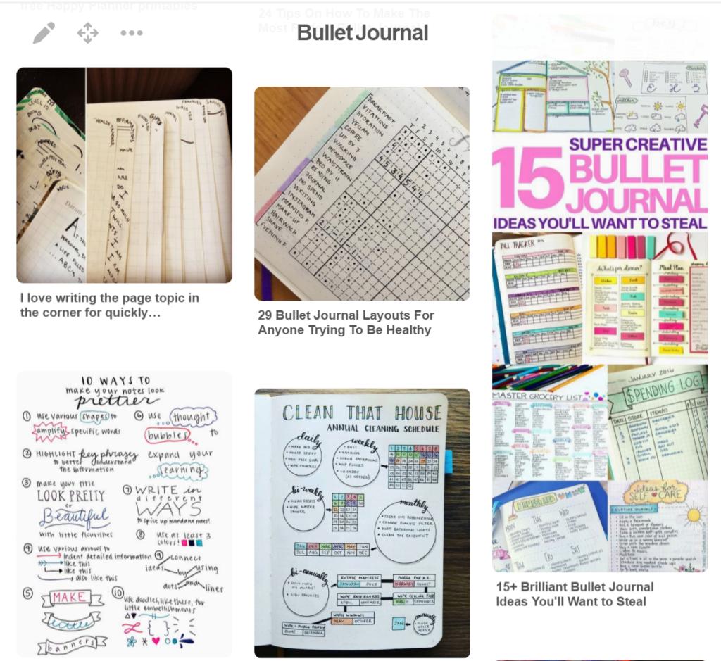 bullet journal ideas from pinterest
