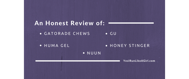 Review of Popular Mid-Workout Fuels (GU, Chews, Gel, etc.)