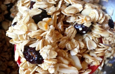 homemade citrus granola