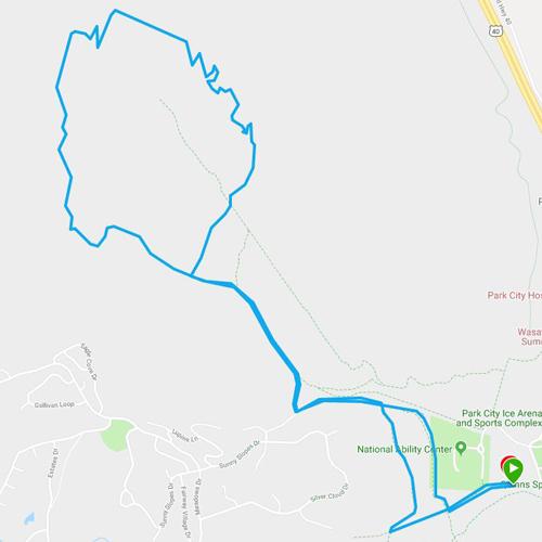 Park City Trail Series 10K route