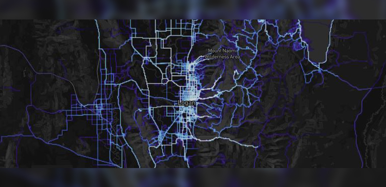 Logan, Utah Running Heat Map