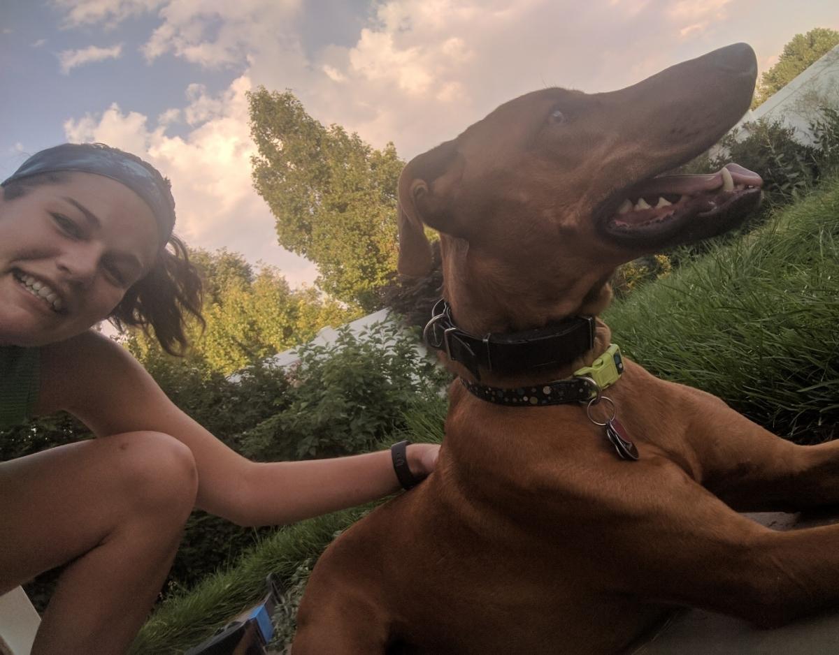 joey my running dog and I